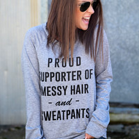 Proud Supporter Sweatshirt {Grey}