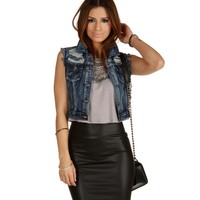 Denim Shred It Vest