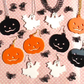 Creepy Halloween collection necklace earrings or choker