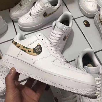 PEAPON Nike Air Force 1 Bape White For Women Men Running Sport Casual Shoes Sneakers