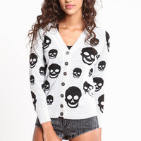 SCATTERED SKULLS CARDIGAN