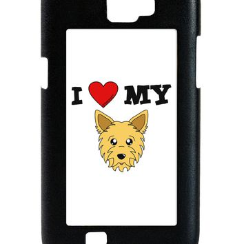 I Heart My - Cute Yorkshire Terrier Yorkie Dog Galaxy Note 2 Case  by TooLoud