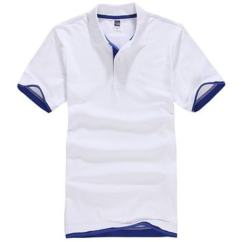 New Men's Polo Shirt Men Cotton Short Sleeve Shirt Sportspolo Jerseys Golftennis Camisa Polos Homme