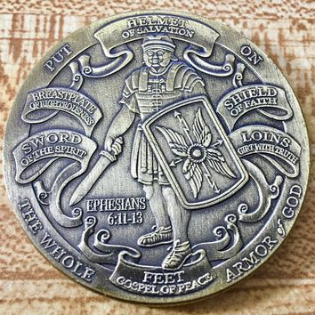 Put On The Whole Armor Of God Challenge Coin - Army