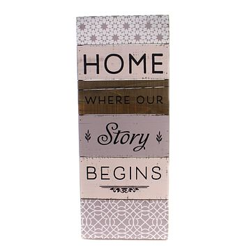 Home Decor Home Is Where Our Story Begins Home Decor
