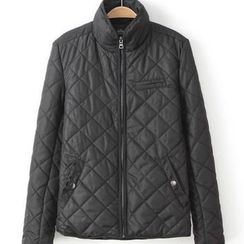 Long Sleeve Turtleneck Zip-Up Padded Jacket