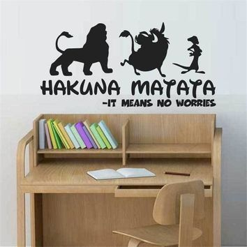 HAKUNA MATATA Lion King Quote - Simba Timon Pumbaa Wall Stickers Kids Bedroom Home Decor