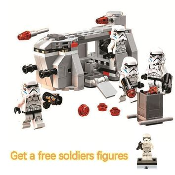 Star Wars Force Episode 1 2 3 4 5 Bela Compatible Legoe  Space  141pcs+ 10365 Royal Army Imperial Troop Transport Building Blocks Bricks Toys AT_72_6