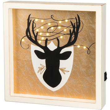 Lighted Deer LED Box Sign