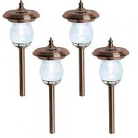 Farrington Solar LED Stake Light, Bronze 4 Pack