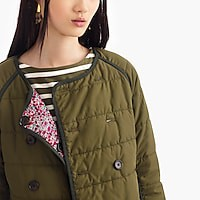Women's Reversible Puffer Jacket In Liberty® Floral - Women's Outerwear & Jackets | J.Crew