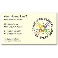 Massage Therapy Business Cards from Zazzle.com