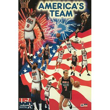 Dream Team 1992 Mens Olympic Basketball Poster 24x36