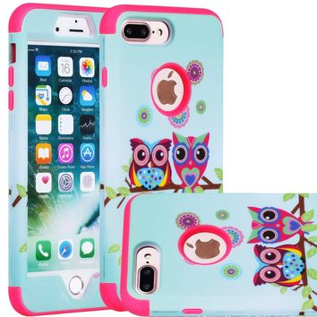 iPhone 7 Plus Cell Phone Case, SAVYOU iPhone 7 Plus 5.5inch Dual Layer Case Shock Drop Protection Armor Cover Sunshine/Pink