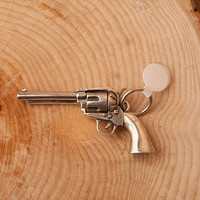 Solid Sterling Six Shooter Pistol Pendant