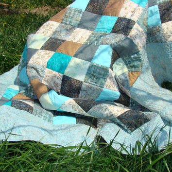 Quilt, quilts, bed quilt, twin quilt, man quilt, masculine quilt, boy quilt, guy quilt, man gift. Ready to ship.