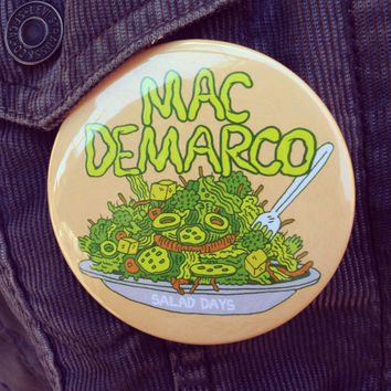Mac Demarco 3x3 inch button