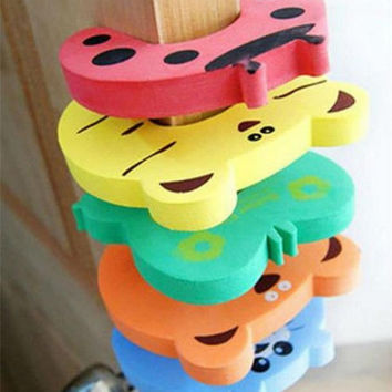 5pcs Door Stopper Safety Lock Baby Toddler