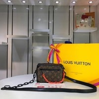 Kuyou Lv Louis Vuitton Fashion Women Men Gb2964 M44480 Mini Soft Trunk Brown 18.5x13x8cm