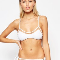 ASOS Mix and Match Mesh Insert Skinny Crop Bikini Top