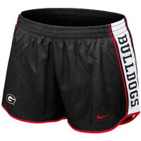 Nike Georgia Bulldogs Ladies Black Pacer Performance Shorts
