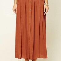 Contemporary Button-Front Skirt