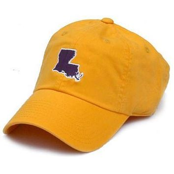 LA Baton Rouge Gameday Hat in Gold by State Traditions