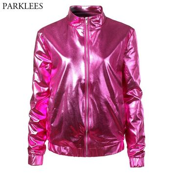 Wanelo Bomber Products Metallic On Jacket Best C84fwqw