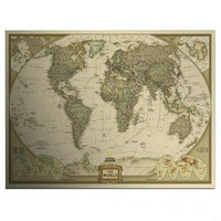 Vintage Style World Map Home Decoration Detailed Antique Poster Matte Kraft Paper 72x47cm Map Of World