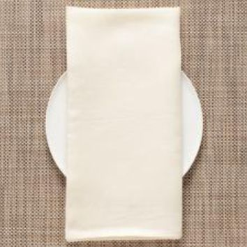 CHILEWICH Single-Sided Linen Napkins-Set of 8 | Ivory