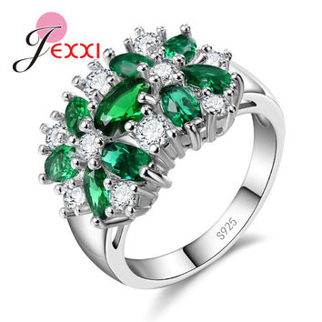 Cubic Zircon Rings For Women Wedding Engagement Sterling Silver