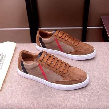DCCK Burberry  Men Casual Shoes Boots fashionable casual leather