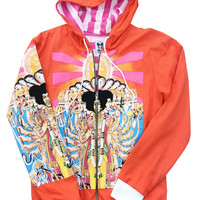 Jimi Hendrix Axis Bold As Love Orange Hoodie