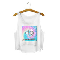 Women's Harajuku Style Loose 3D Print Cute Sexy Girl Cropped Sports Summer Camisole Youth Tank Top Crop Top