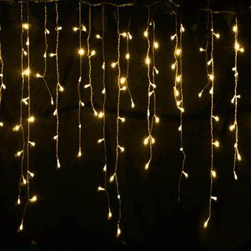Connector 5M x 0.4M 0.5M 0.6M led curtain icicle string lights led fairy lights Xmas Wedding Party
