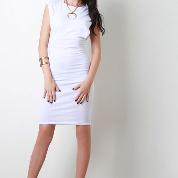 Casual Open Arms Midi Dress