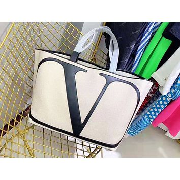 Valentino fashion casual canvas shopping bag popular two-piece one-shoulder bag for women