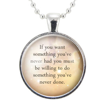 Inspirational Quote Necklace, Motivational Personal Mantra Pendant, Thomas Jefferson Quote Jewelry