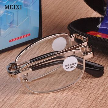 Folding reading glasses UV400 Anti-Blu-ray radiation glass Women Men Fashion Eyewear 1.0 1.5 2.0 2.5 3.0 3.5 4.0