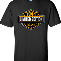 70th Birthday Gift 1944 Limited Edition Classic B-day T Shirt Cool hipster swag mens womens ladies TShirt T-Shirt T Shirt Tee  - DT-600