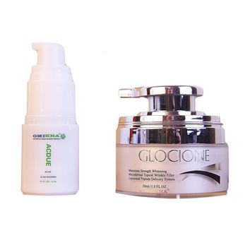 Acdue Acne Scar Removal (15g) & Glocione Wrinkle and Dark Spot Corrector (1oz)