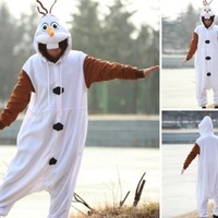 Olaf Adult Men Women Animal Kigurumi Party Cosplay Animal Costume Pajamas XL