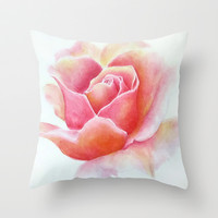 Primrose Throw Pillow by Susaleena