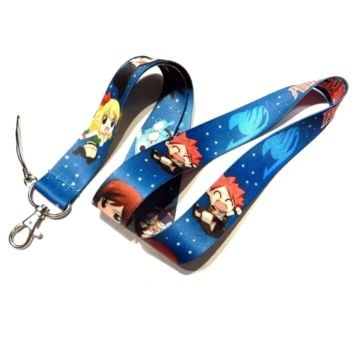 Brand New Japan Anime Fairy Tail Blue Lanyard