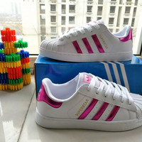 """Adidas"" Fashion Casual Small White Shoes Women Shell Head Plate Shoes Sneakers"