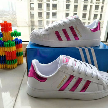 """""""Adidas"""" Fashion Casual Small White Shoes Women Shell Head Plate Shoes Sneakers"""