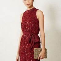 Sachin + Babi Sequin Cutout Dress in Wine Size: 10 Dresses