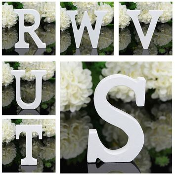 8x5x1.2cm New A-Z Wooden Wood Letters Alphabet Word Free Standing Wedding Party Home Decoration