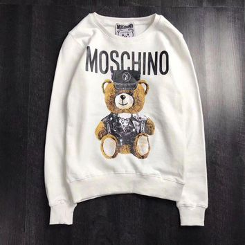 DCCKNQ2 Moschino Woman Men Fashion Bear Top Sweater Pullover