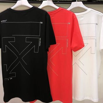 HCXX 19July 448 off-white Cotton Short-Sleeved t-shirts 3M Reflective for men and women